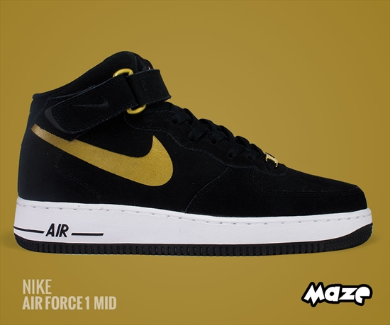 622fbfe2484a4e Nike Air Force 1 Mid  07 - Black Metallic Gold 13 08 2014