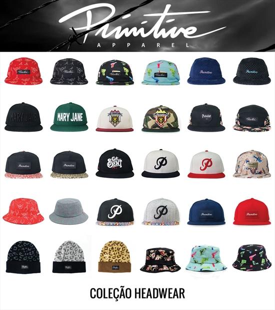 Nova coleção Primitive disponível em todas lojas Maze. Começando essa linda  coleção temos a linha de headwear composta por bonés 5 panel 22ab11168ef