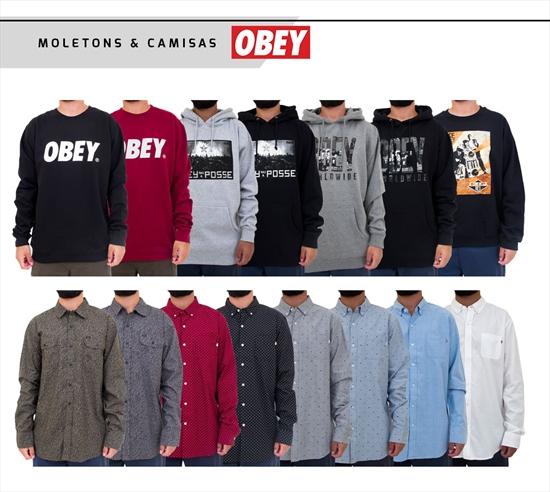 Muitas opções de moletons e camisas da nova coleção Obey já disponível em  todas as lojas. São incríveis modelos 0d9da85d951d6