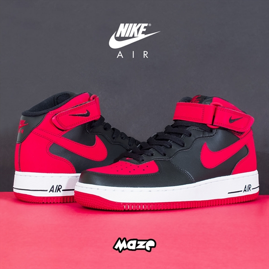 low priced 06353 e9ff0 Nike Air Force 1 Mid  07 - Bred 08 06 2015