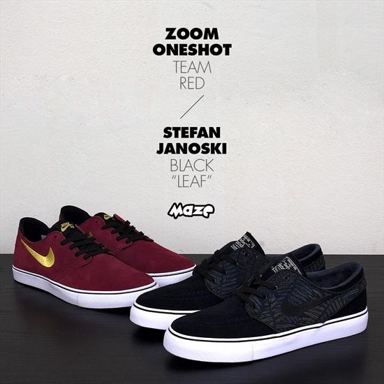 Novas cores dos modelos Zoom Stefan Janoski e Zoom Oneshot da linha Nike SB 8f2ab968ce7c4