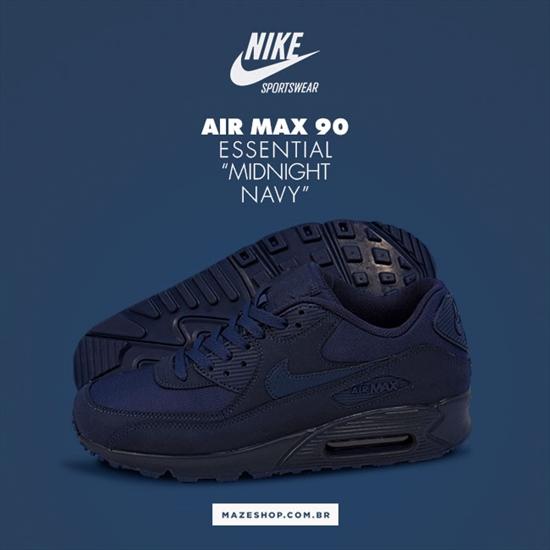 a85a558d38f Nike Air Max 90 Essential - Midnight Navy 12 08 2015