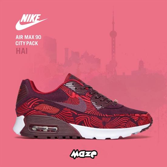 "Nike Air Max 90 ""Infrared Washed Denim Santos Sneakers"
