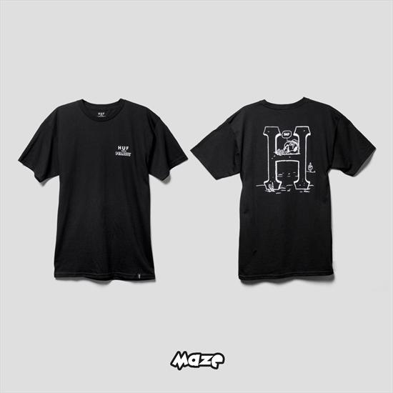 cfe3fe1086 Camiseta HUF x Peanuts Spike Classic H Preta 06 04 2017